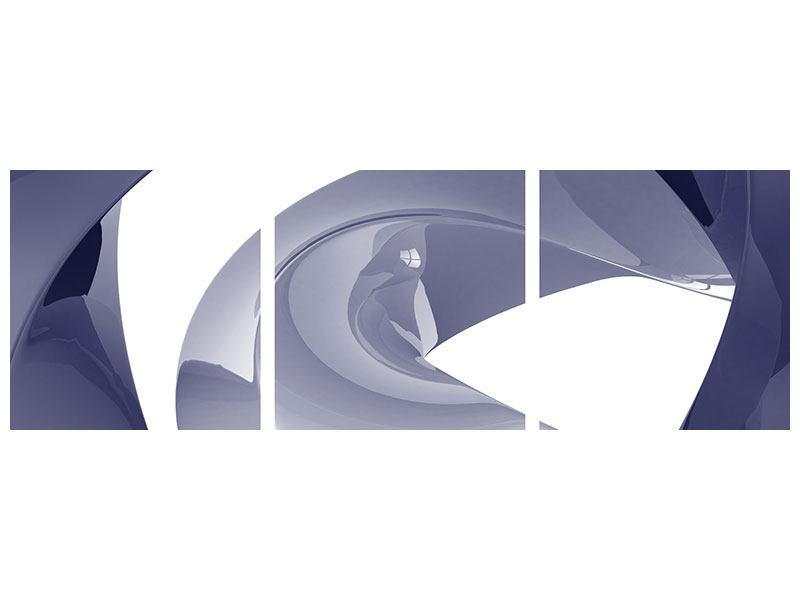 Panorama Metallic-Bild 3-teilig Abstrakte Schwingungen
