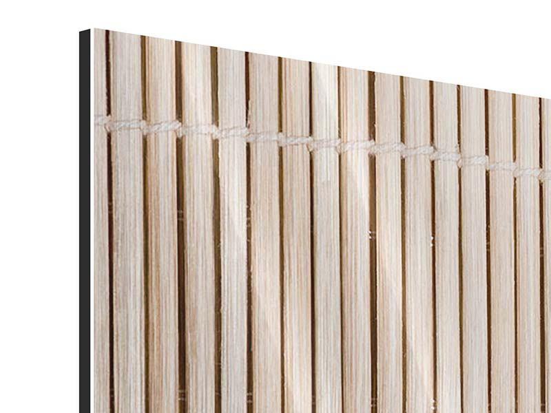 Panorama Metallic-Bild 3-teilig Lucky Bamboo