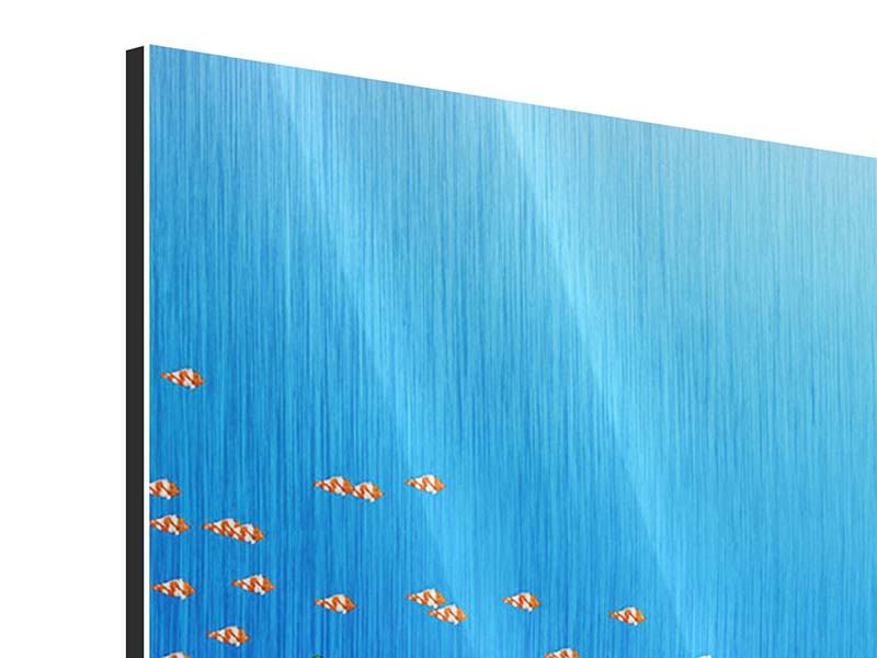 Panorama Metallic-Bild 3-teilig Der Schatz unter Wasser