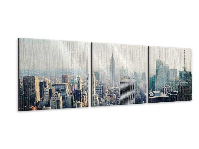 Panorama Metallic-Bild 3-teilig NYC