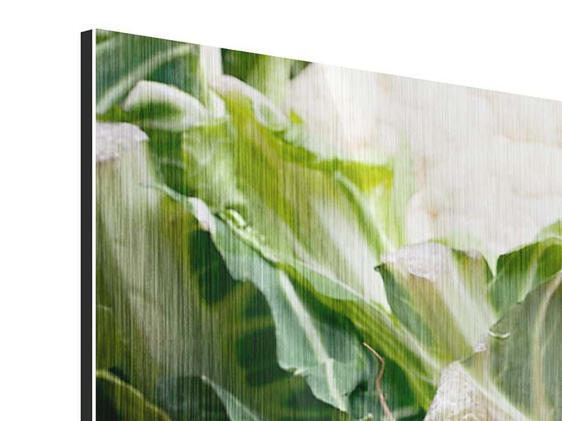 Panorama Metallic-Bild 3-teilig Gemüse