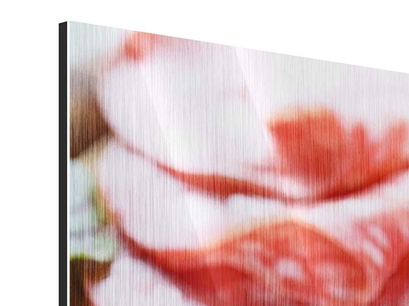 Panorama Metallic-Bild 3-teilig Wurstplatte