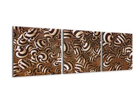 Panorama Metallic-Bild 3-teilig Schokoladen-Bonbons
