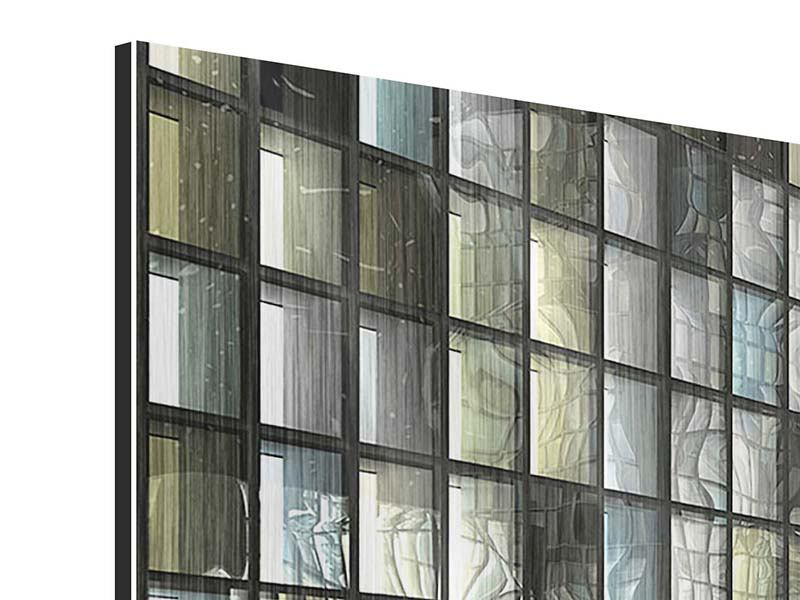 Panorama Metallic-Bild 3-teilig Windows
