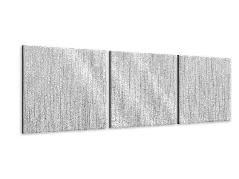 Panorama Metallic-Bild 3-teilig Beton in Hellgrau