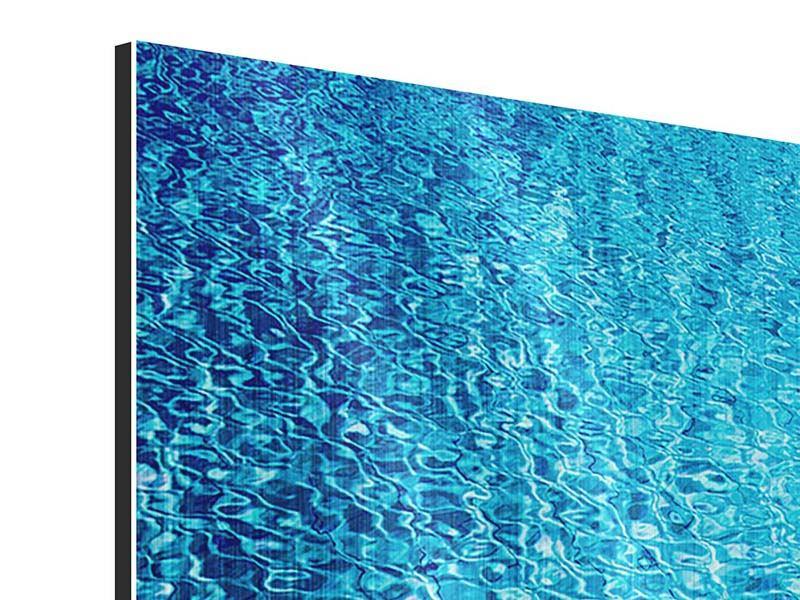 Panorama Metallic-Bild 3-teilig Tauchgang