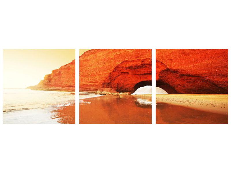 Panorama Metallic-Bild 3-teilig Wasserspiegelung