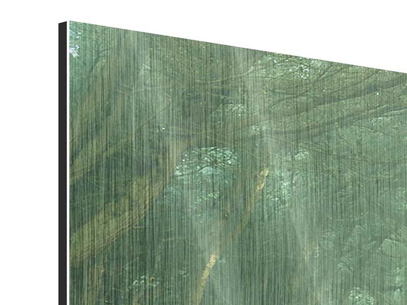 Panorama Metallic-Bild 3-teilig Die Allee