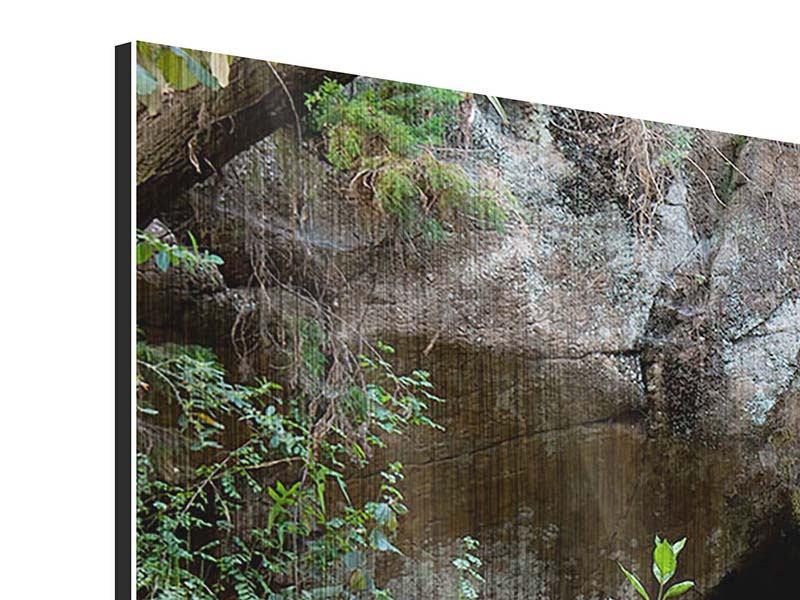 Panorama Metallic-Bild 3-teilig Die blaue Lagune