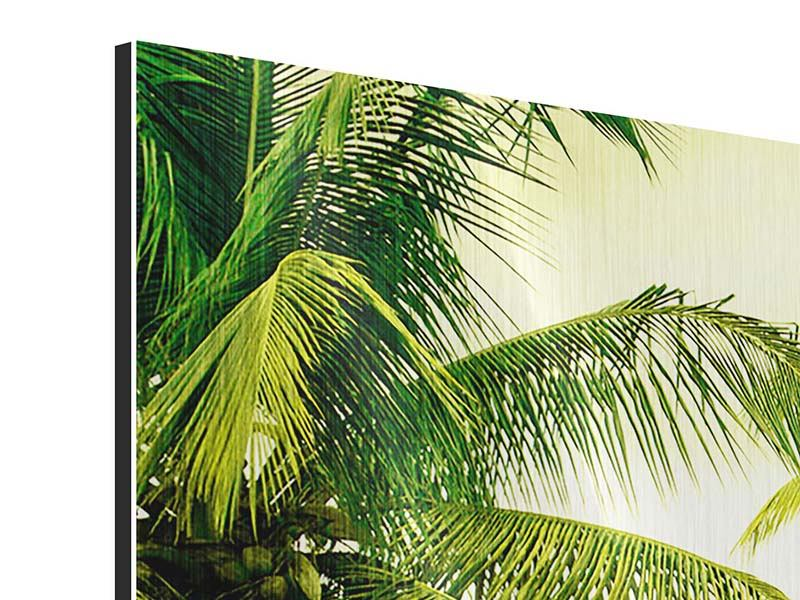 Panorama Metallic-Bild 3-teilig Reif für die Insel