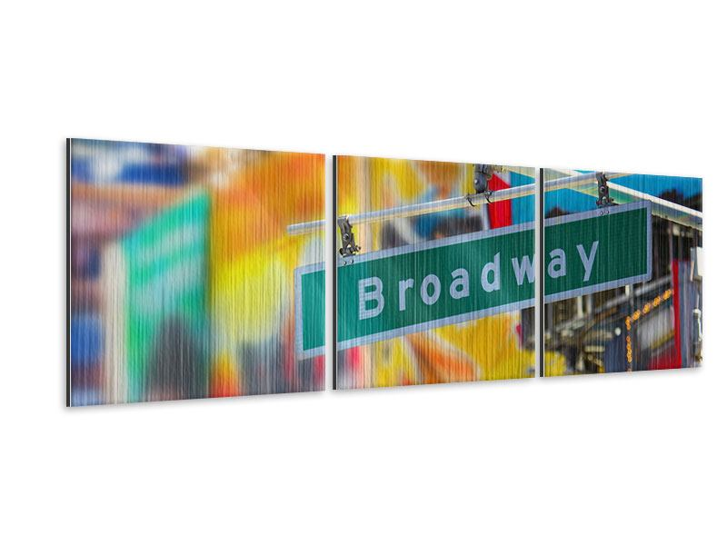 Alu-Dibond effet metallise en 3 parties Panoramique Broadway