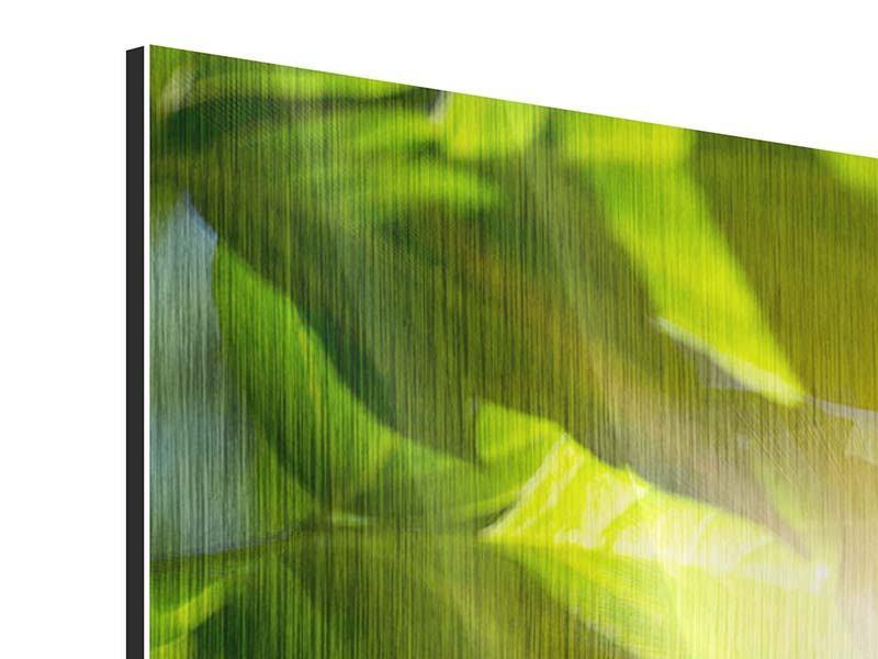 Panorama Metallic-Bild 3-teilig Es grünt so grün