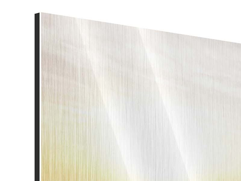Panorama Metallic-Bild 3-teilig Das gestrandete Boot