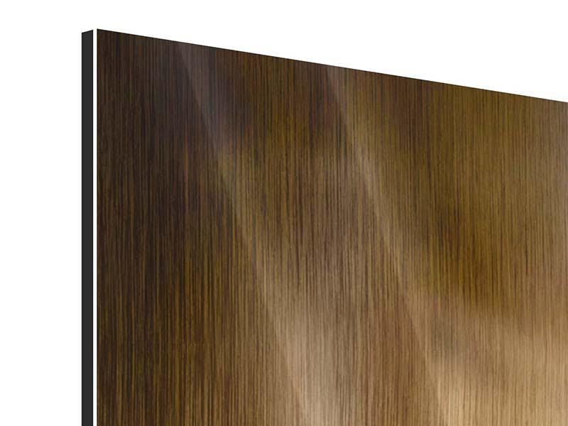 Panorama Metallic-Bild 3-teilig Wellness-Steine