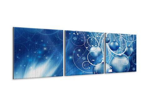 Panorama Metallic-Bild 3-teilig Shingle Bells