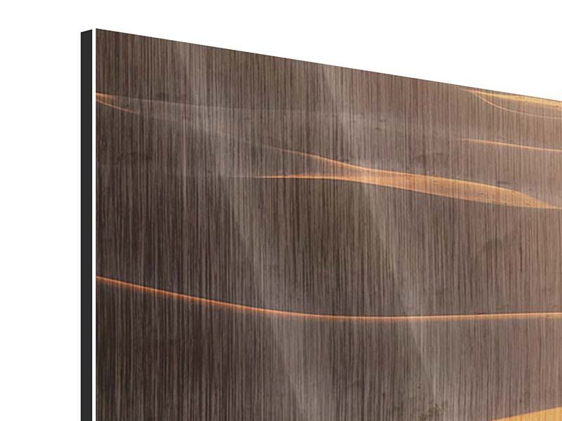 Panorama Metallic-Bild 3-teilig Wüstenwanderung