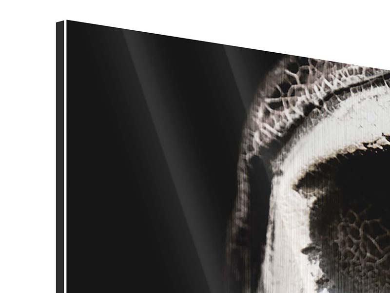 Panorama Metallic-Bild 3-teilig Skull