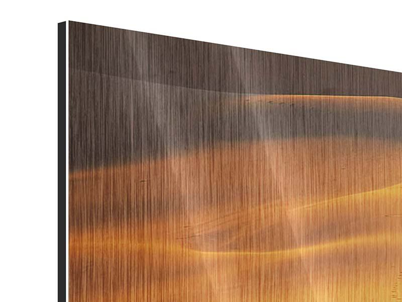 Panorama Metallic-Bild 3-teilig Wüstensand