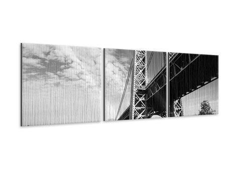 Panorama Metallic-Bild 3-teilig Georg-Washington-Bridge