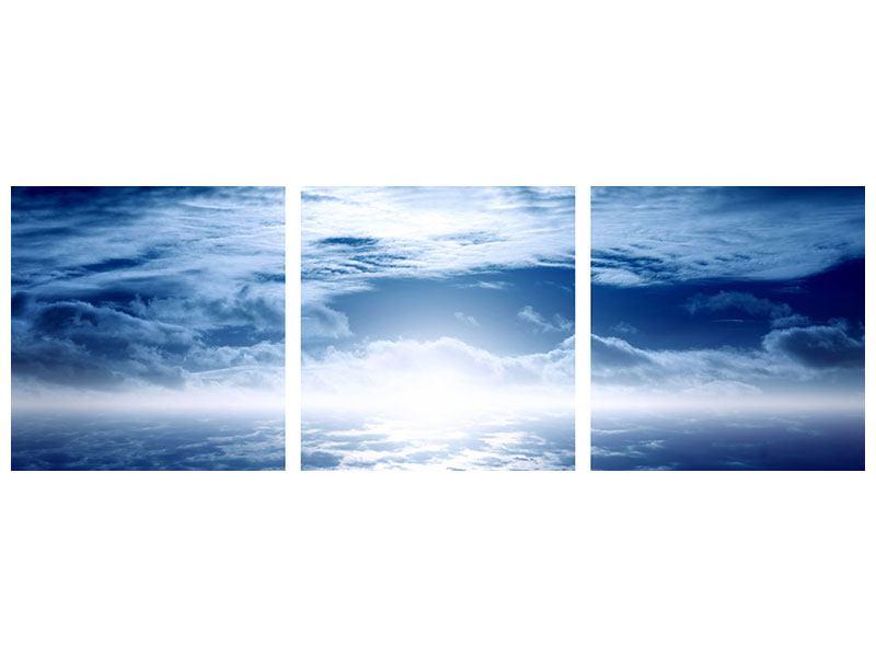 Panorama Metallic-Bild 3-teilig Mystischer Himmel