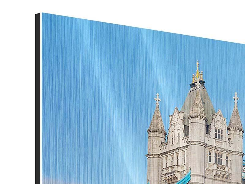 Panorama Metallic-Bild 3-teilig Die Tower Bridge