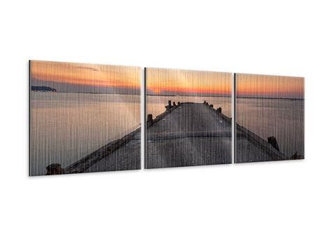 Panorama Metallic-Bild 3-teilig Der Steg