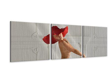 Panorama Metallic-Bild 3-teilig Nude-Diva
