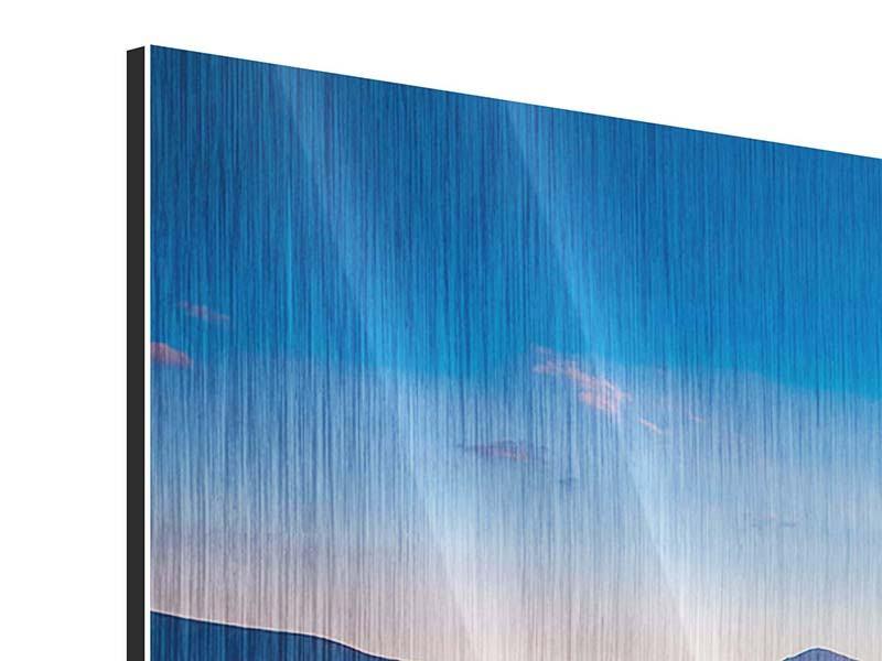 Panorama Metallic-Bild 3-teilig Friedliche Landschaft