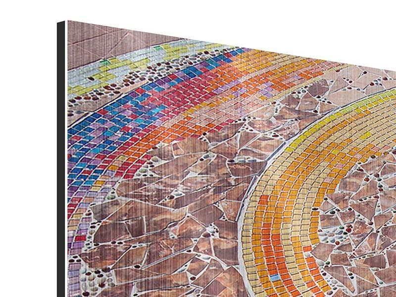 Panorama Metallic-Bild 3-teilig Mosaik