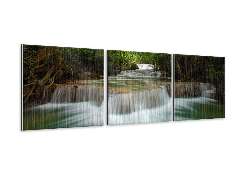 Panorama Metallic-Bild 3-teilig Die 7 Stufen