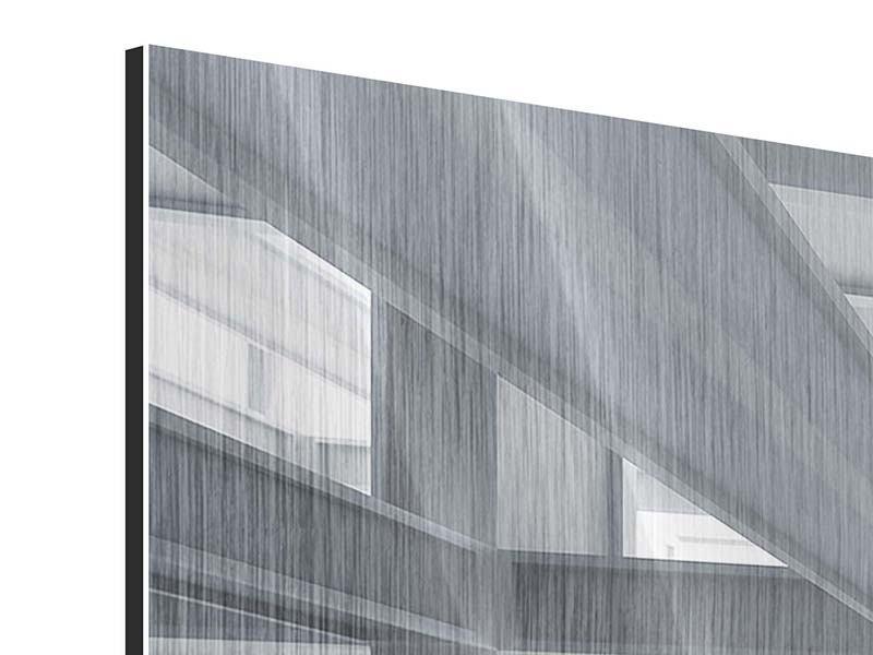 Panorama Metallic-Bild 3-teilig Räume