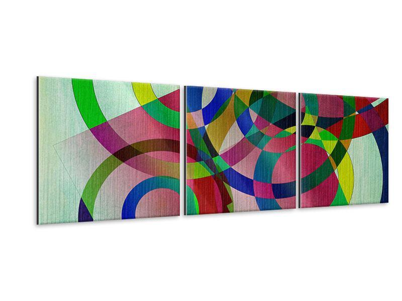 Panorama Metallic-Bild 3-teilig Wandkunst