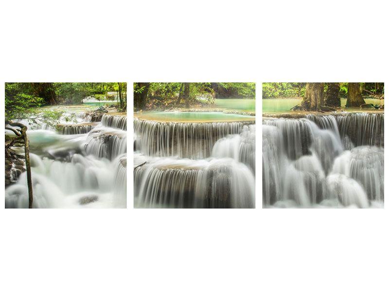 Panorama Metallic-Bild 3-teilig Erawan