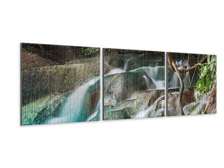 Panorama Metallic-Bild 3-teilig Am Fluss des Lebens