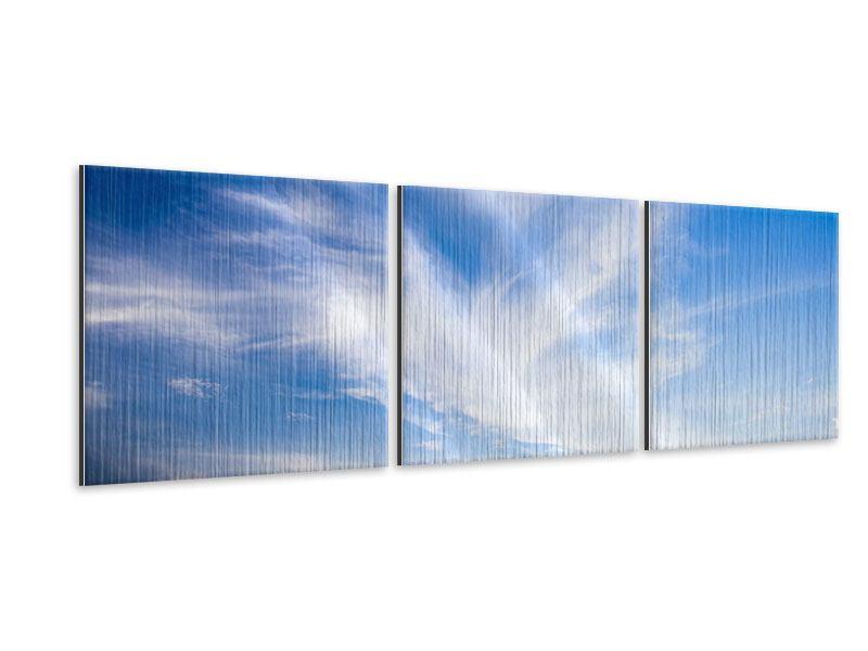 Panorama Metallic-Bild 3-teilig Schleierwolken