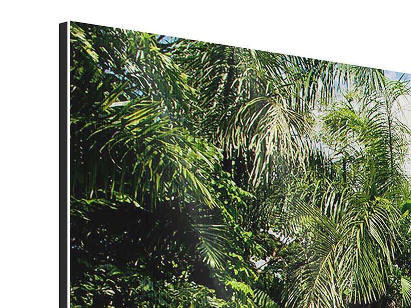 Panorama Metallic-Bild 3-teilig Lagune