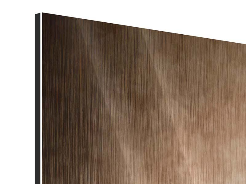 Panorama Metallic-Bild 3-teilig Das Volle Korn