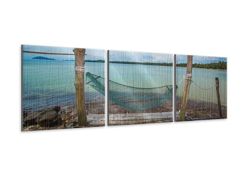 Panorama Metallic-Bild 3-teilig Hängematte