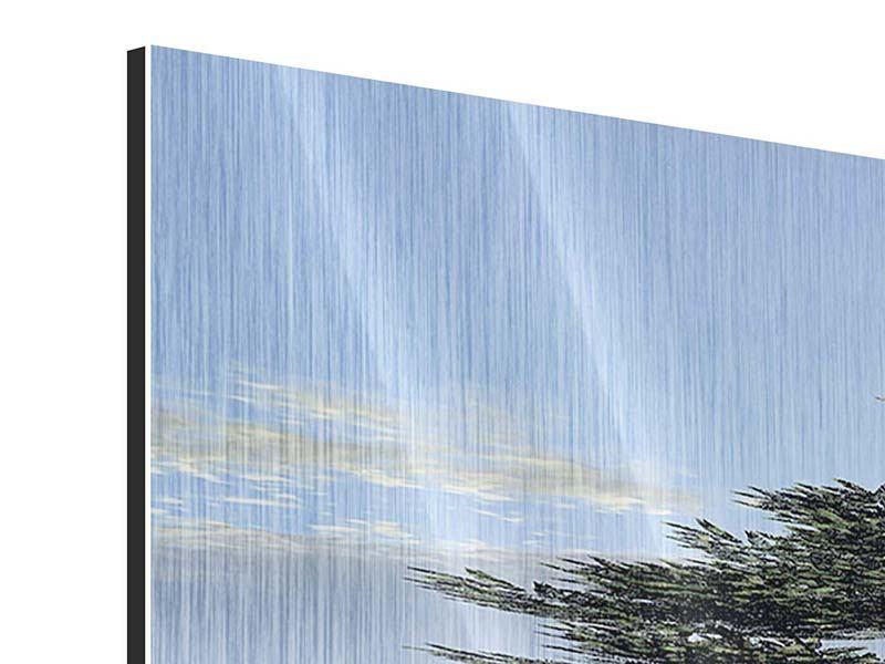 Panorama Metallic-Bild 3-teilig Naturfaszination