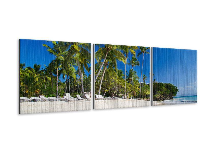 Panorama Metallic-Bild 3-teilig Aloha