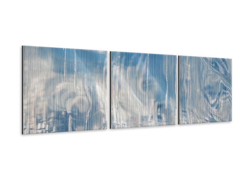 Panorama Metallic-Bild 3-teilig Das Eis des Baikalsees