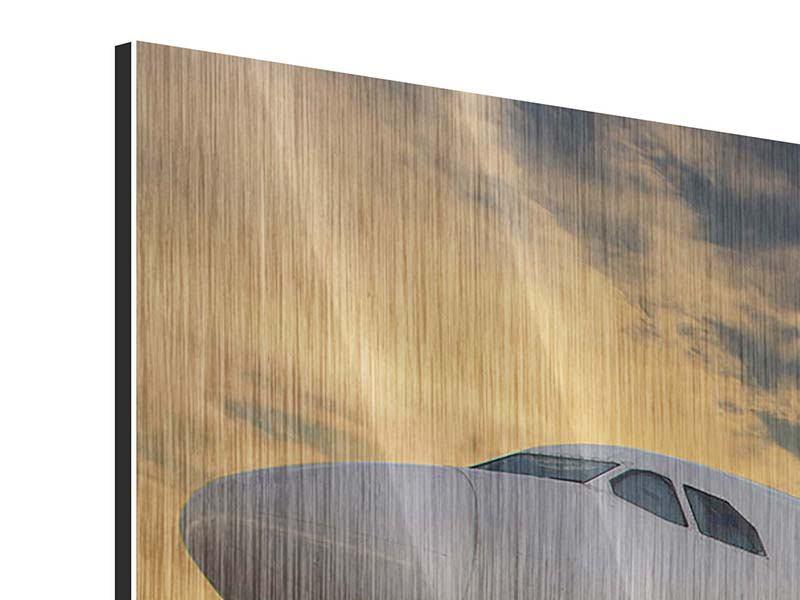 Panorama Metallic-Bild 3-teilig Jet
