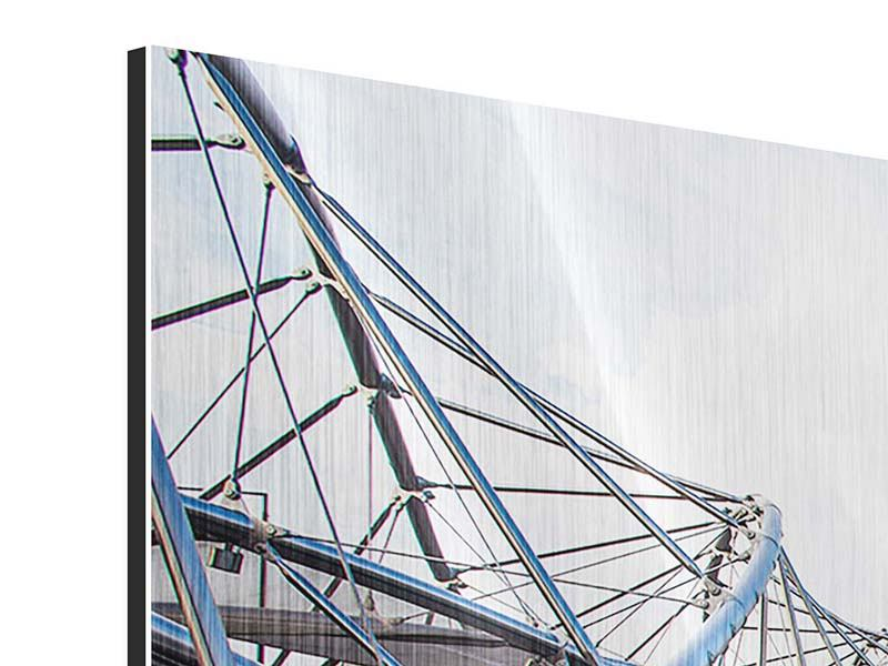 Panorama Metallic-Bild 3-teilig Singapur
