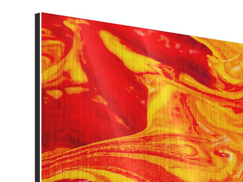 Panorama Metallic-Bild 3-teilig Wandgemälde