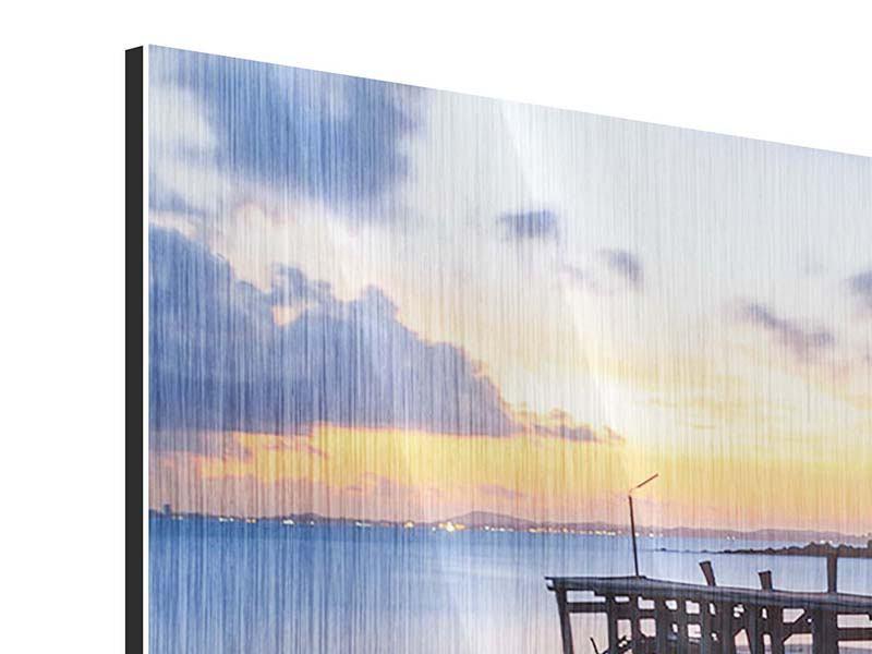 Panorama Metallic-Bild 3-teilig Inseltraum
