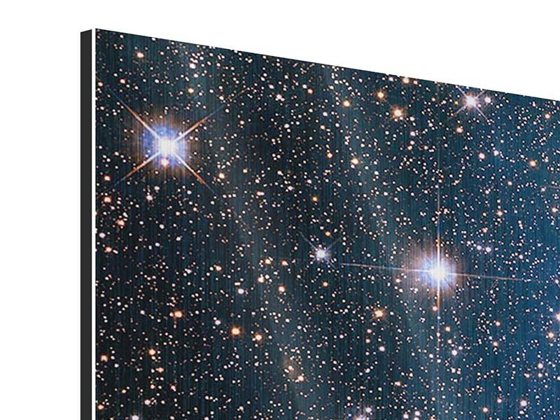 Panorama Metallic-Bild 3-teilig Sternenhimmel