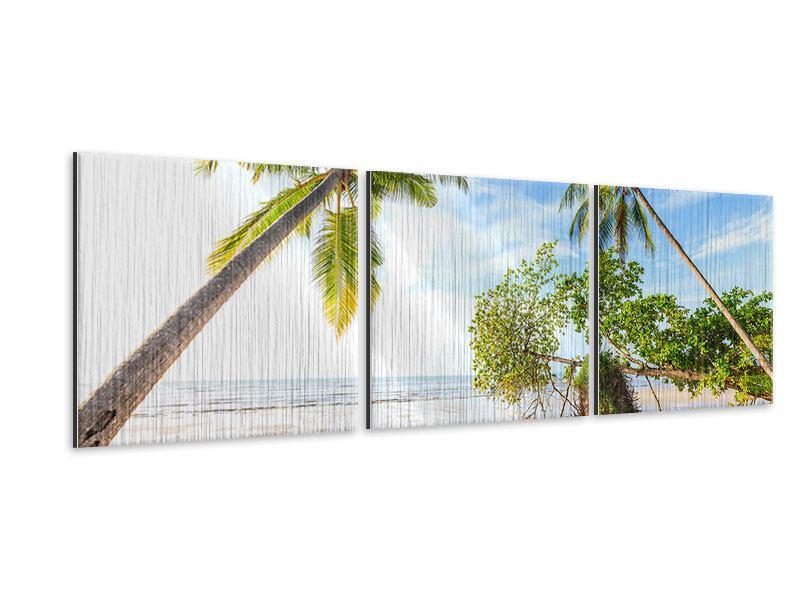 Panorama Metallic-Bild 3-teilig Bang Sak Bucht