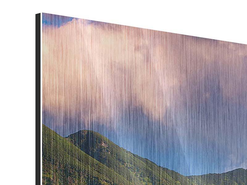 Panorama Metallic-Bild 3-teilig Herbstanfang