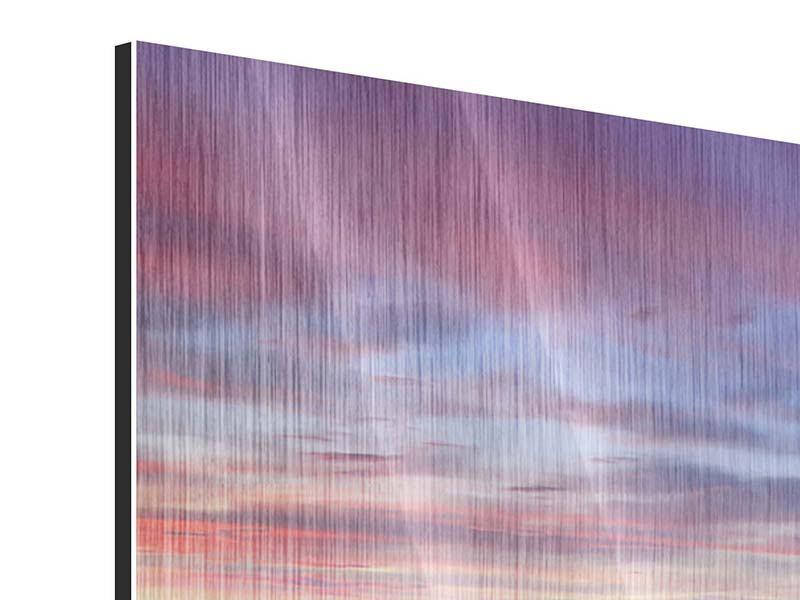 Panorama Metallic-Bild 3-teilig Ano Manao Bucht