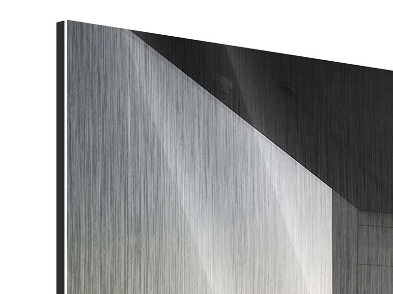 Panorama Metallic-Bild 3-teilig Balkon in Dubai